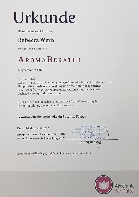 zertifkat-aroma-beraterrebecca-weiss